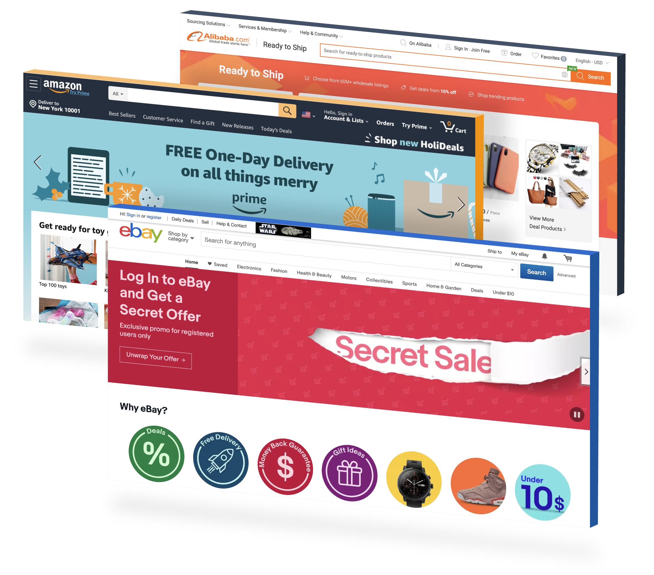Launching products and growing sales on Amazon, eBay and Alibaba